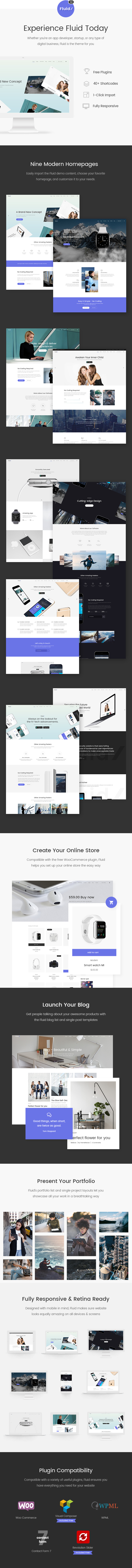 Fluid - Startup and App Landing Page Theme - 1